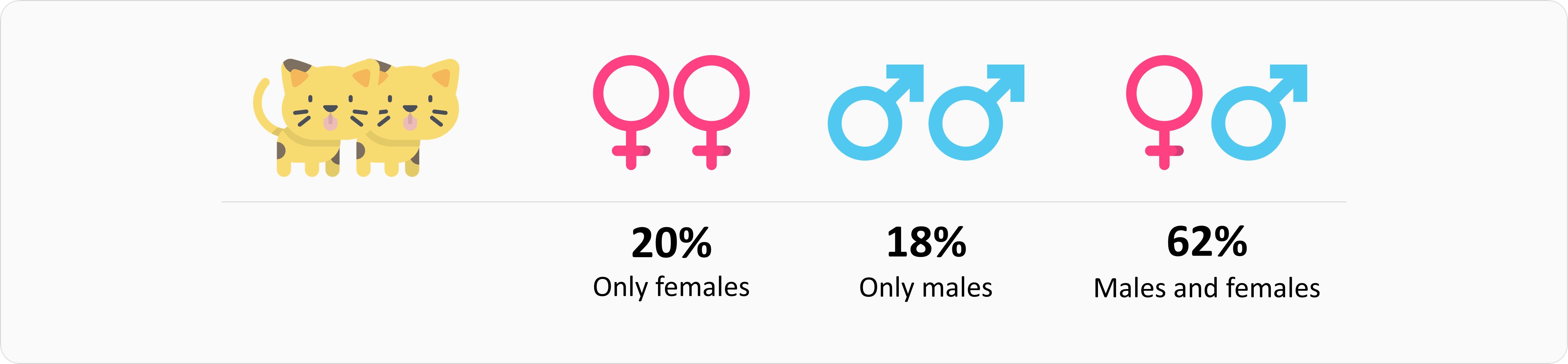 Gender of cats in cat families