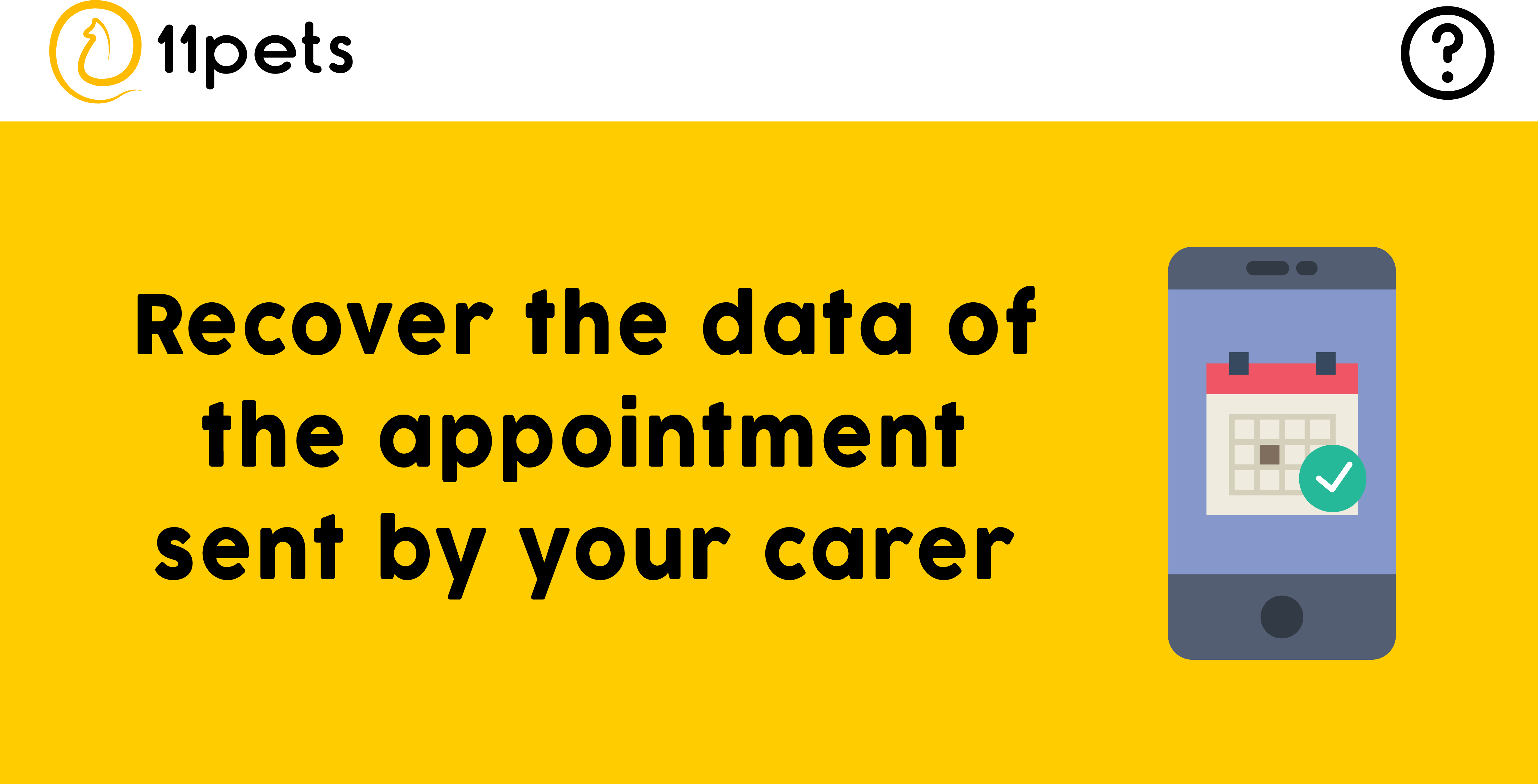 Recover the data of the appointment sent by your carer