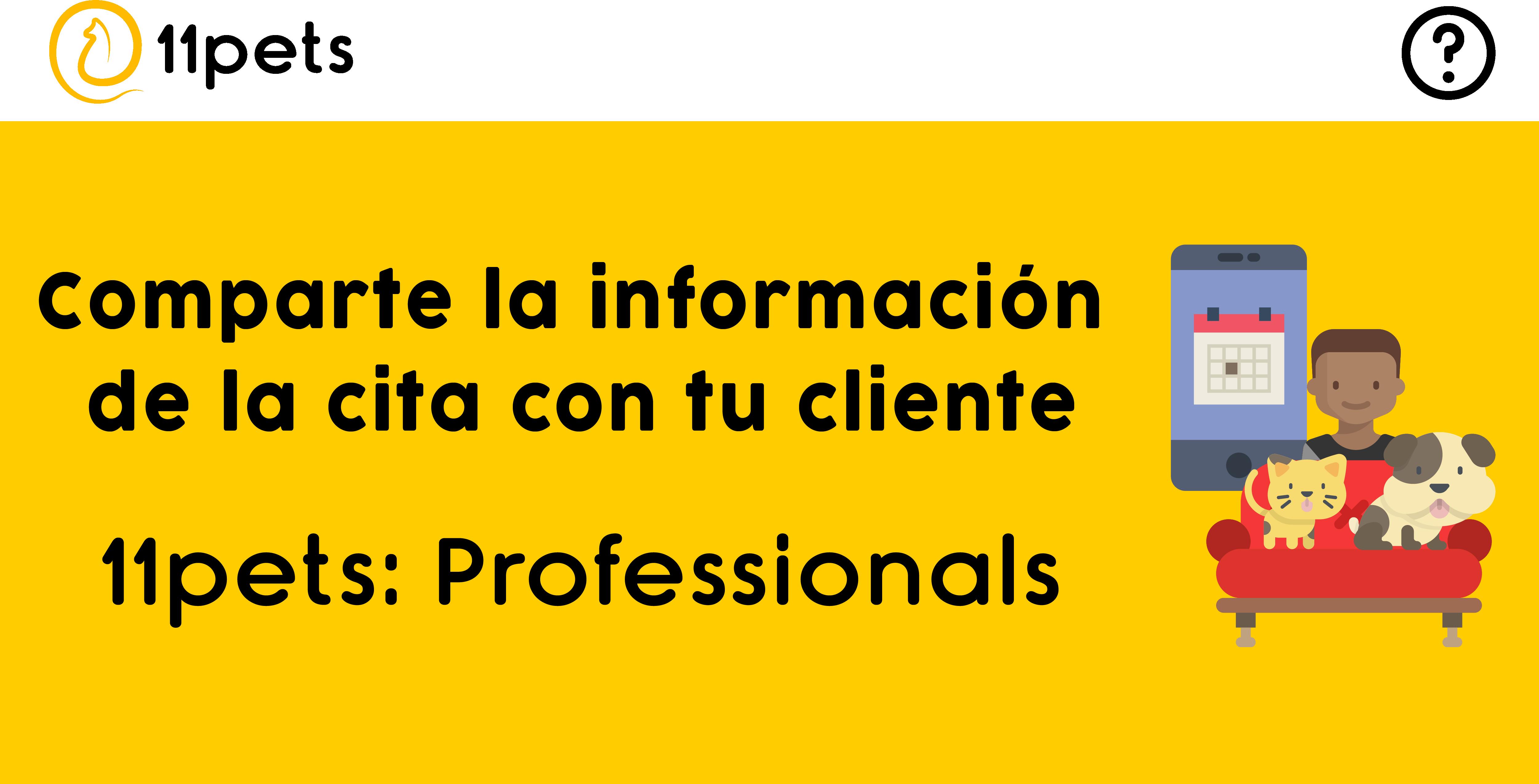 Comparte la información de la cita con tu cliente