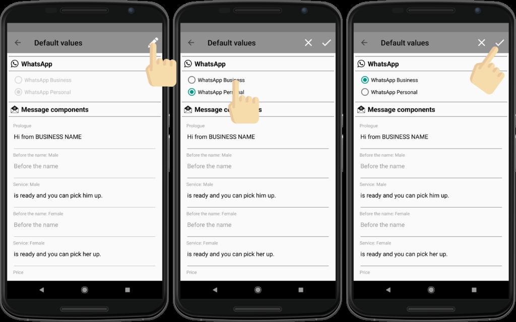 Configure between WhatsApp and WhatsApp Business