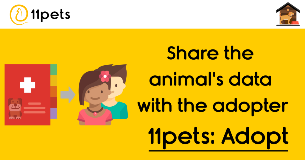 Share the animal's data with the adopter