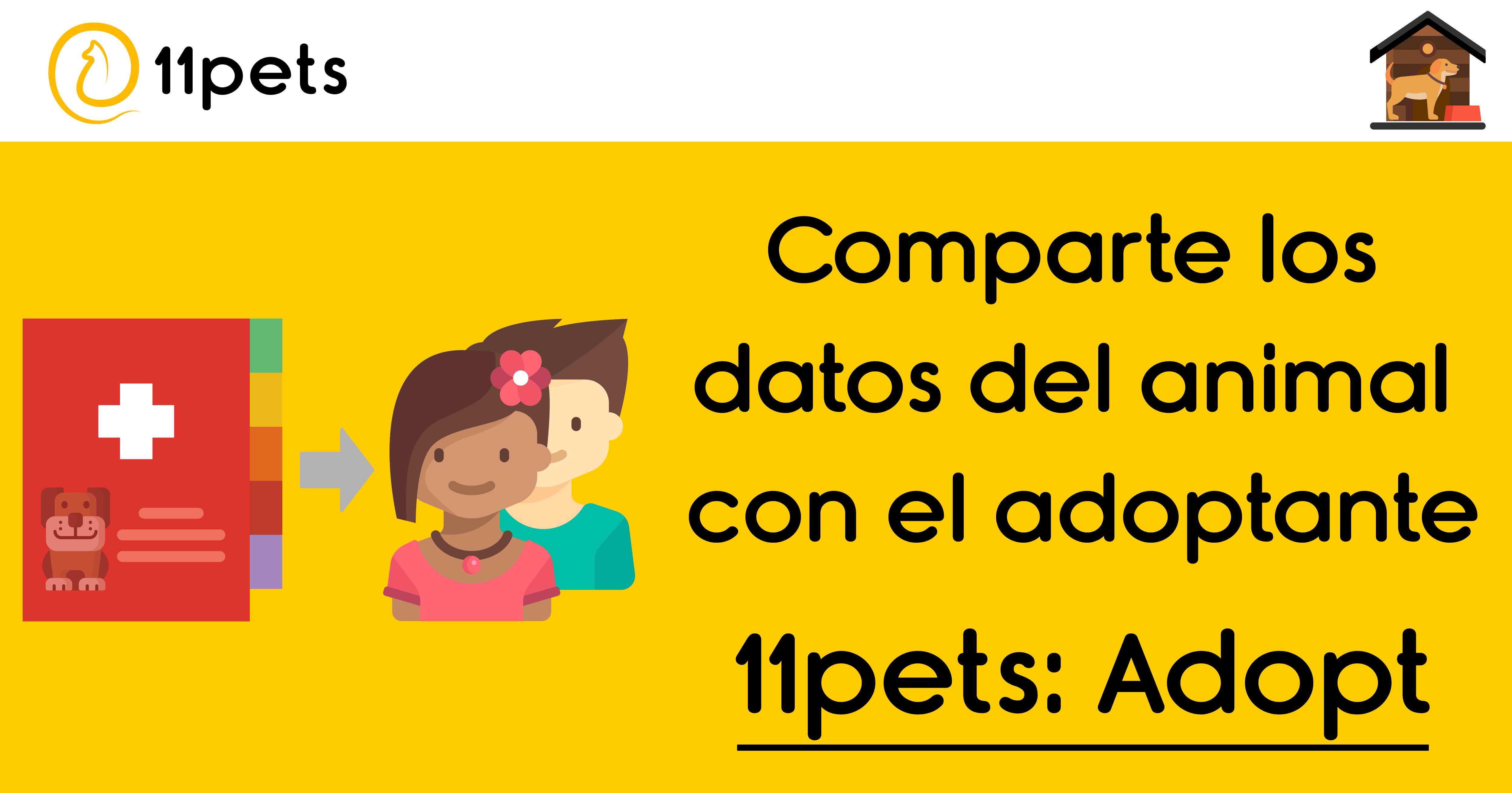 Comparte los datos del animal con el adoptante