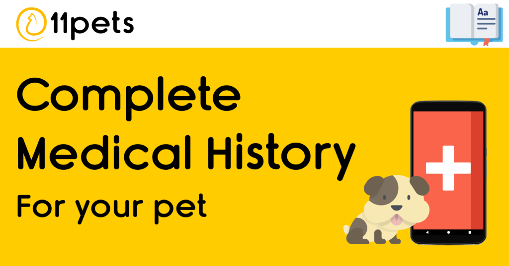 Manage a complete medical history for your pet with 11pets