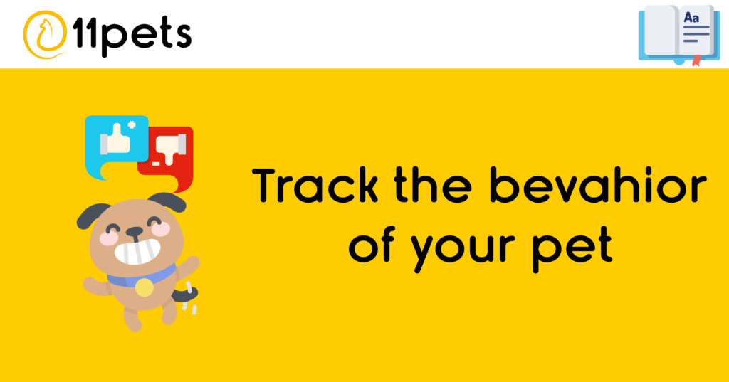 Track the behavior of your pet