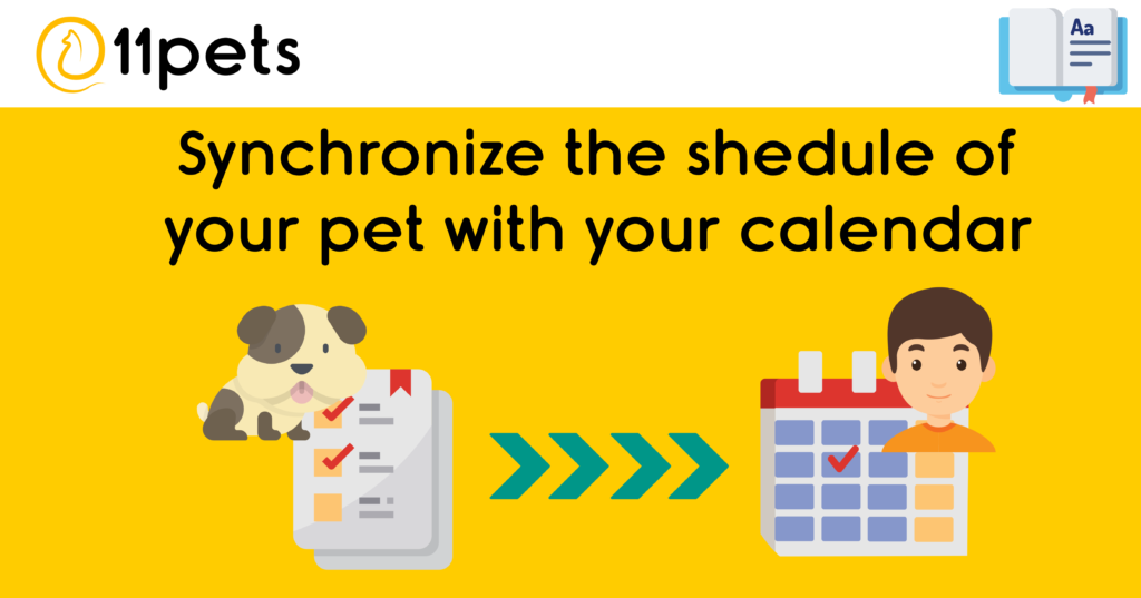 Synchronize the schedule of your pets with the calendar of your device