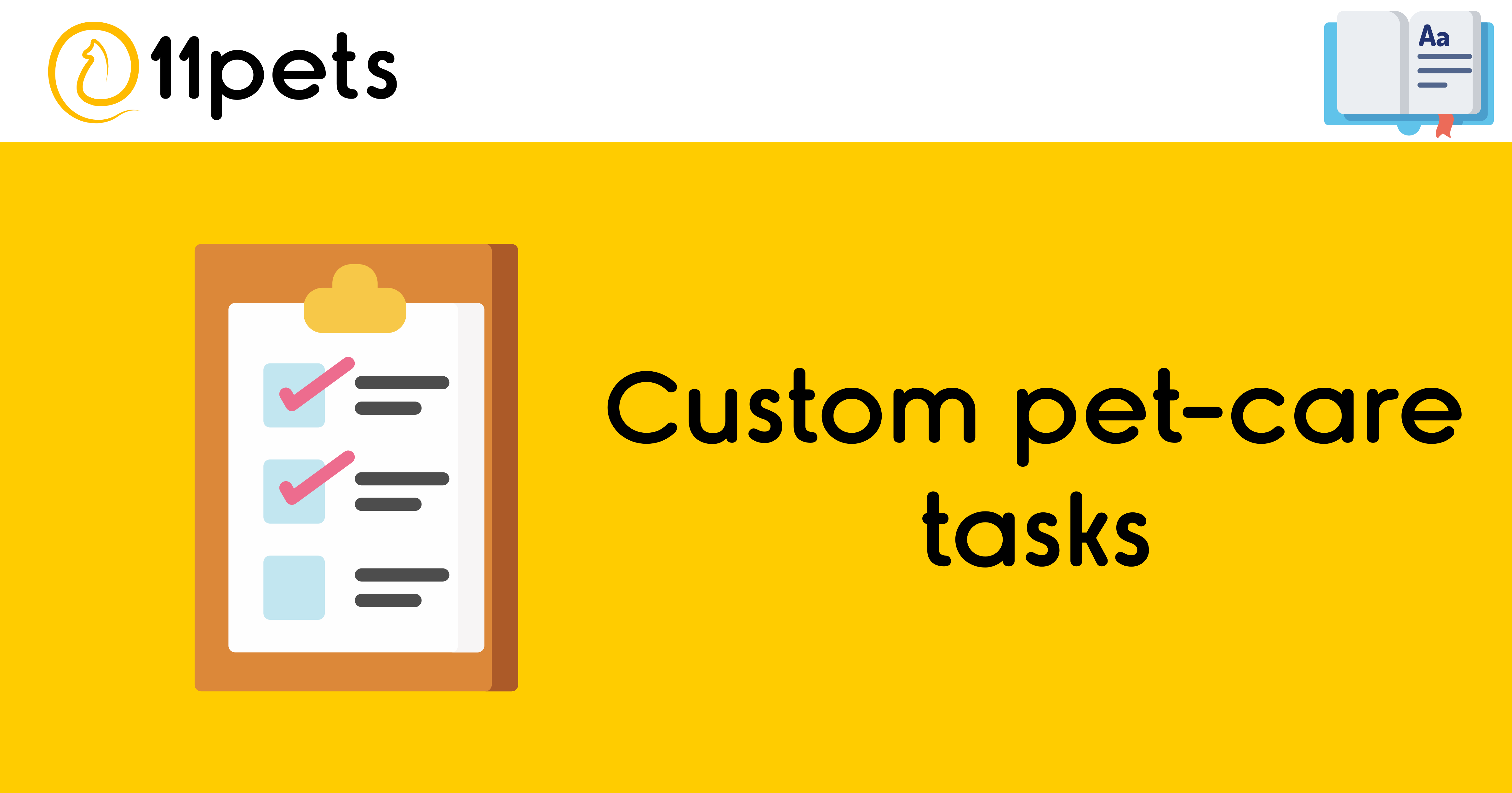 Custom pet-care tasks