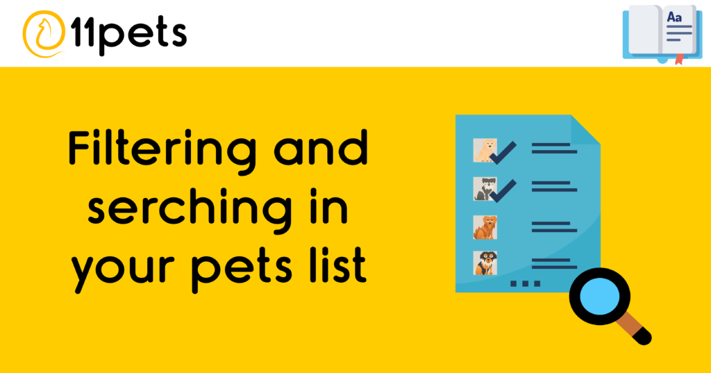 Filtering and searching in your pets list