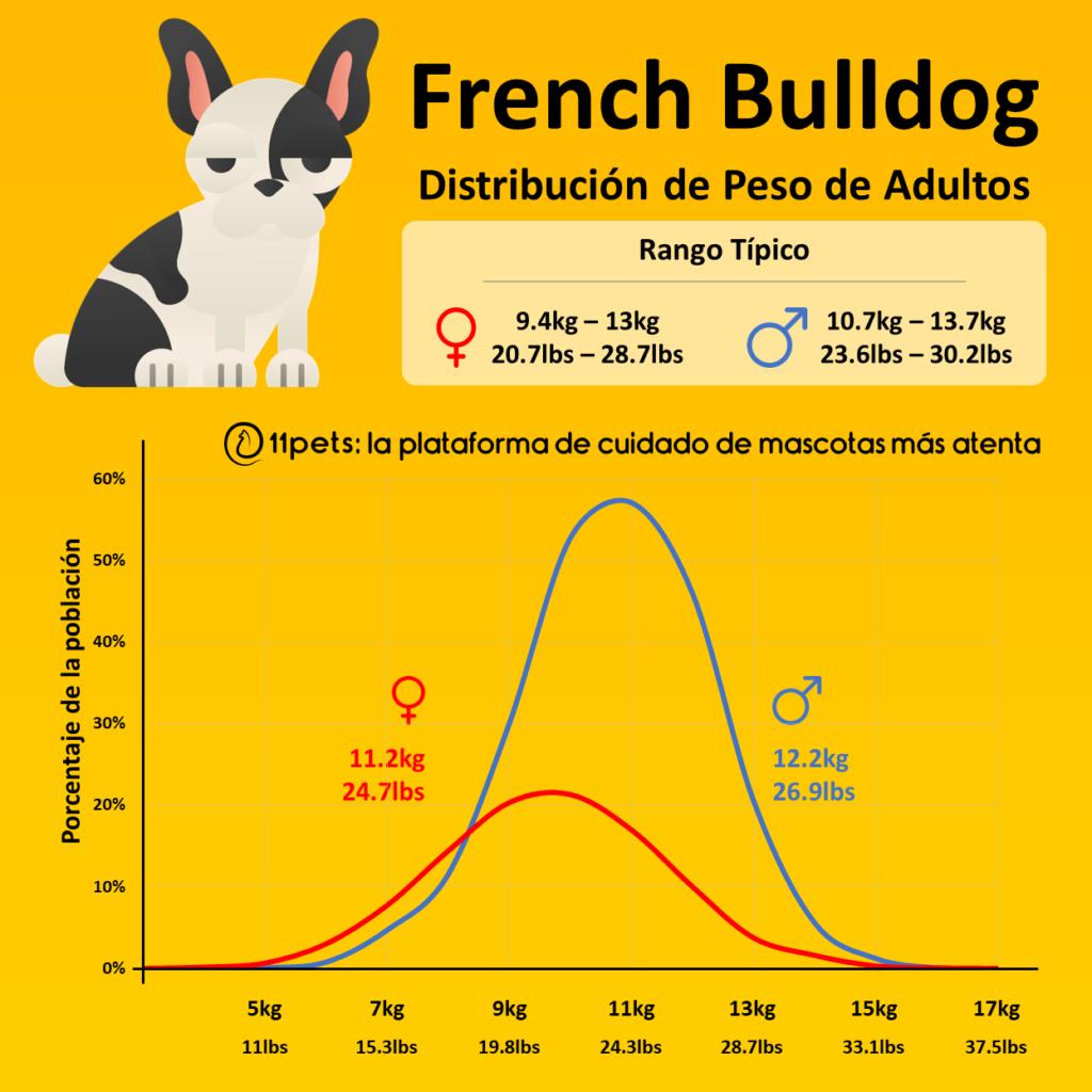 Peso Bulldog Francés