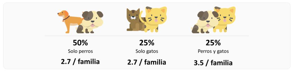 múltiples mascotas